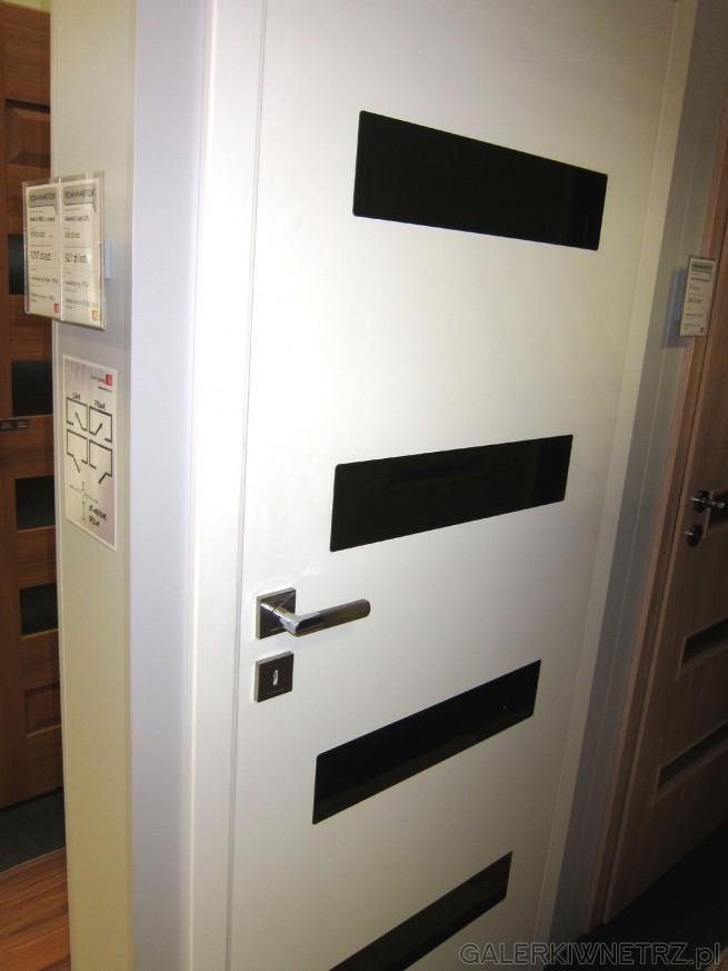 Drzwi wewnętrzne bezprzylgowe Asteria 8, biały CPL, z regularnymi, prostokątnymi ...