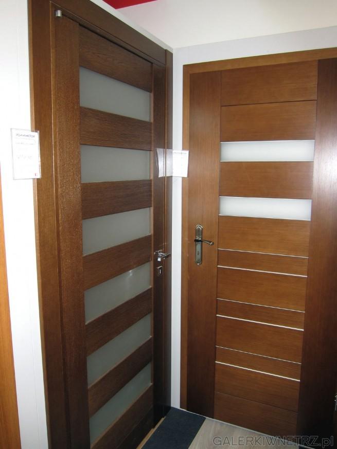 Drzwi wewnętrzne Sabia 02 z systemem bezprzylgowym, z regularnym przeszkleniem ...