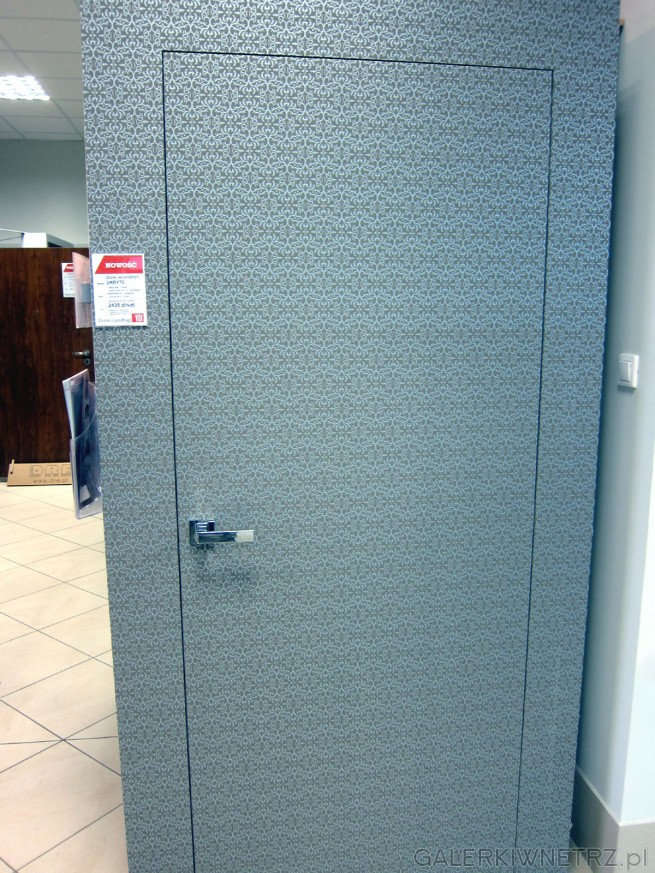 Drzwi wewnętrzne typu UKRYTE, które tworzą ciekawy efekt wizualny wtapiania sięw ...